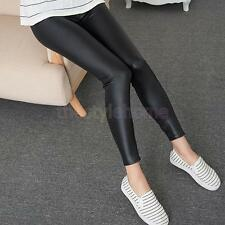 Fashion Pu Leather Pencil Pants Sexy Womens Shaping Leather Legging Plus Size