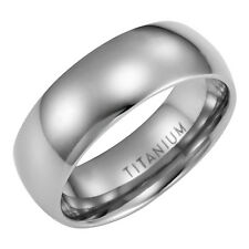 Willis Judd Mens New 8mm Titanium Band Ring In Black Velvet Ring Box
