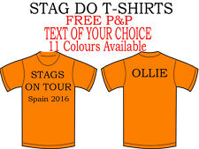 STAG T-SHIRTS, HEN, PARTY, PRINTED, CUSTOM TEXT, FREE P&P