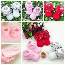 0-6 Month Toddlers Infants Cotton Ankle Socks Baby Girls Princess Bowknots Socks