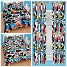 """BATMAN V SUPERMAN DOUBLE ROTARY BEDDING & 54"""" & 72"""" CURTAINS AVAILABLE FREE P+P"""
