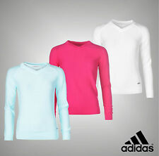 New Ladies Adidas Long Sleeves V Neck Essential Sweater Golf Jumper Size 8-16