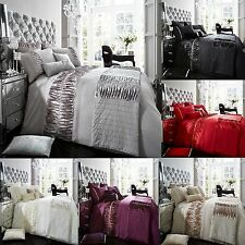Alina Pleated Duvet Cover Set With Pillow Cases, Luxury Bed Linen