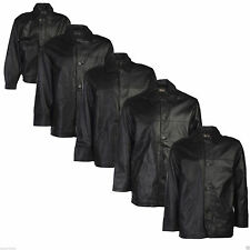 Mens Leather Jacket Black Real 100% Genuine Everyday Style Fashion Casual Warm