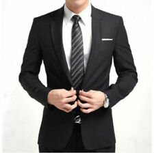 New Stylish Men Casual Slim Fit One Button Suit Blazer Coat Jacket Tops Wedding