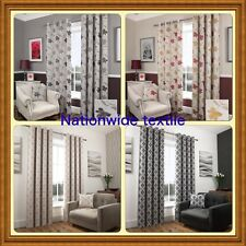 NEW LUXURY FLORAL FULLY LINED EYELET CURTAINS OR MATCHING CUSHION COVERS