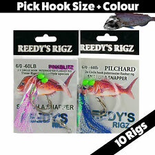 10 Circle Hook Rig Paternoster Fishing Rig Snapper Mulloway Live Lure Bait Surf
