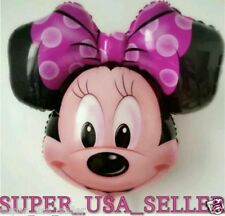 """27.5""""Huge Minnie Mouse Head Baby Shower Foil Balloon Birthday Party Supplies lot"""