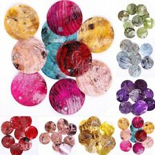 18mm Mussel Shell Flat Round Coin Charm Beads  Colorful New Fashion 50pcs