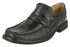 £39.99 SALE MENS CLARKS HOLD HOIST HANDLE WORK SLIP ON G FIT BLACK LEATHER SHOES