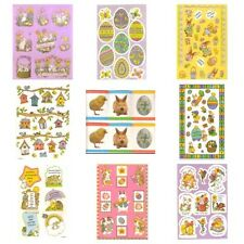 AMERICAN GREETINGS Set of Two STICKER Sheets EASTER HOLIDAY Bunnies Eggs Basket