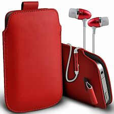 PU Leather Pull Tab Flip Case Cover & Handsfree For Vodafone Smart 4 Turbo