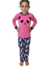 Pyjamas Girls Winter Cotton Flannel Pjs (Sz 8-14) Set Pink Panda Sz 8 10 12 14