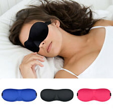 New 3D Eye Sleeping Mask Soft Travel Sleep Aid Rest Cover Sponge Shade Blindfold