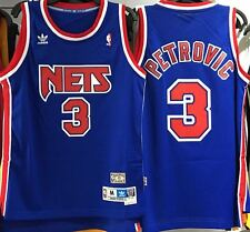 DRAZEN PETROVIC NEW JERSEY NETS HARDWOOD CLASSICS THROWBACK JERSEY SWINGMAN NEW