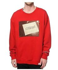 NEW MEN'S XXL DIAMOND SUPPLY CO. COMPANY RED FONT CREWNECK SWEATSHIRT 2XL