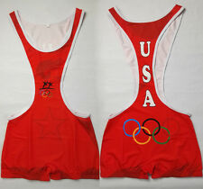 Colored Custom Mens Wrestling Trunk Save Olympic  Wrestling Singlet Gym Outfit