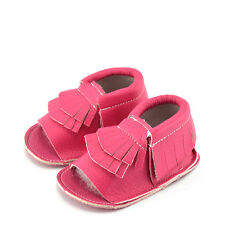 2016 Summer Cute Baby Girls Boys Soft Sole PU Leather Toddler Moccasins Sandals