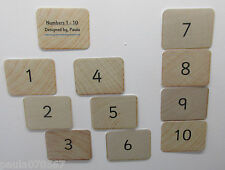 FUN Learning my first numbers 1 - 10 OR Alphabet. Wooden block design cards