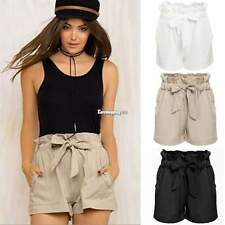 FASHION BOHO LADIES HIGH WAIST SHORTS SUMMER BEACH CASUAL SHORT HOT PANTS + BELT