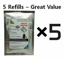 Economy 5 Refill Bags - Hair Loss Concealer Bald Cover Hair Building Fibers