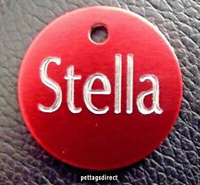 25mm Horse, Pony, Cat or Dog Pet ID Collar Name Disc, Disc Animal Engraved Tag!