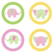 Little Elephants {Girly Pink} Edible Cupcake Toppers Decoration