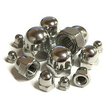 A2 Stainless Steel - Dome Nuts To Fit Metric Bolts - M3 M4 M5 M6 M8 M10 M12 M16