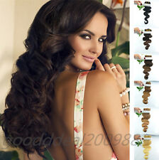 Straight or Wavy Remy Human Hair Extensions Clip-in Hair Pieces 6pcs 30g 20inch