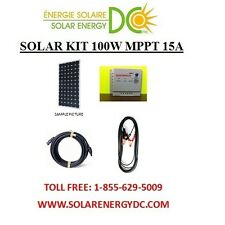 Solar Panel KIT Panneau Solaire 100 Watt W 15A MPPT charger cable MC4 BOAT RV