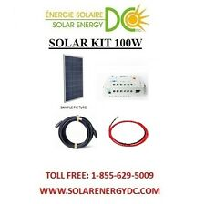 Solar Panel KIT Panneau Solaire 100 Poly Watt 100W charger cable MC4 BOAT RV VR