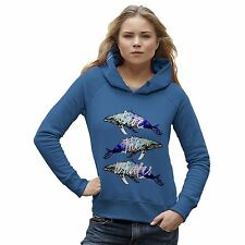 Twisted Envy Women's Save The Whales Humpback Whale Hoodie
