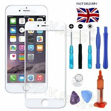 "Front Screen Glass Lens Replacement Repair Kit & UV Glue for iPhone 6 4.7"" White"