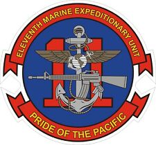 USMC Marine Corps 11th Marine Expeditionary Unit Decal / Sticker