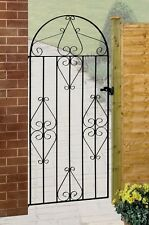 Classic Scroll Tall Garden Side Gate fits 762mm to 1067mm gap Wrought Iron Metal
