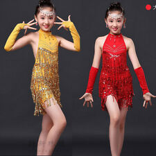Girls Ballroom Latin Dance Dress Children Salsa Skating dancing Costume dress