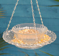 Hobnail Glass Round Hanging Bird Feeder and Bath by Fallen Fruits