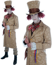 Mens Dickensian Toff Fancy Dress Costume Mad Hatter Outfit Book Week Adult M-XL