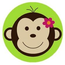 Mod Monkey Lime Green Edible Cupcake Toppers Decoration