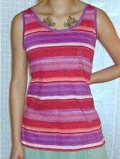 NWT Ann Taylor LOFT Scoop Neck Varied Stripe 100% Cotton Tank Top  $25