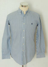 "mens blue white striped RALPH LAUREN long sleeved shirt size 15"" neck"