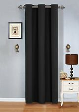 "1 Piece Grommet blackout Panel Window Curtain solid drapes- 54""x84"""