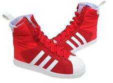 Adidas Womens Superstar Mid Boot Trainers G95700 Hi Res red/Run white 4.5 to 6uk