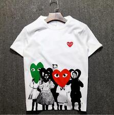 Men's CDG Comme Des Garcons Womens Eyes Heart Top Tee Play white Tee shirt 3size