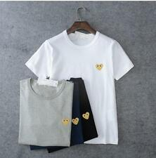 Unisex Japan style CDG Tee Shirt Play Comme Des Garcons Cute Gold Heart T-shirts