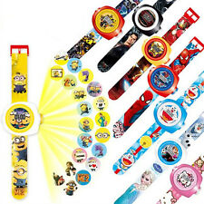 Cartoon Figures Projection Wrist Watch Kids Children Baby Boy Girl Toy Xmas Gift