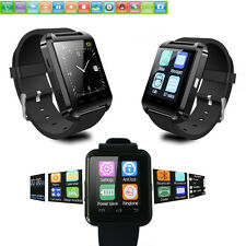 Black Bluetooth Smart Watch Touch Screen Wrist Watch For Android Smart Phone