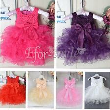 Flower Girls Dress Princess Toddler Baby Wedding Party Pageant Bow Tutu Dresses
