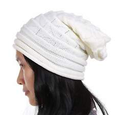 New Fashion Unisex Knit Crochet Solid Warm Baggy Beanie Hat Oversized Slouch Cap