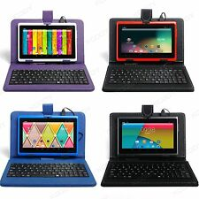 XGODY Tablet 7'' Android 4.4 Bundle Keyboard Case 16GB Quad Core Camera WIFI PC